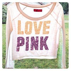 Victoria's Secret PINK Small Long Sleeve Crop Top